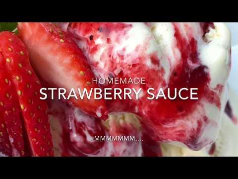 Homemade Strawberry Sauce Recipe - How to Make Strawberry Sauce