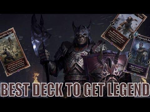 Ramp Up Warrior - Best Deck to get Legend in The Elder Scrolls: Legends
