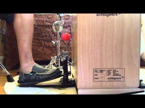 Cajon Bass Drum Demonstration   Schlagwerk Booster Box