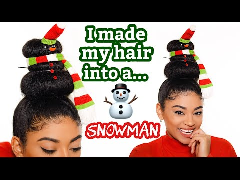 I MADE A SNOWMAN OUT OF MY OWN HAIR!! | jasmeannnn