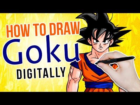 How to Draw GOKU Digitally 🖍