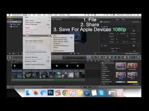 How To Save Video File For Vine In HQ - FCP X