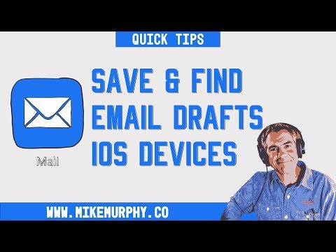 Quick Tip: How To Save & Find Email Drafts on iOS Devices