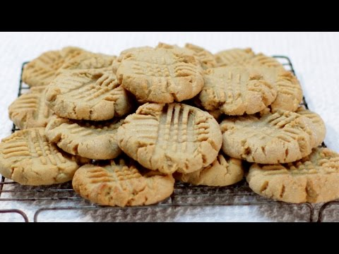 How to Make Peanut Butter Cookies - Easy Peanut Butter Cookie Recipe Soft and Chewy
