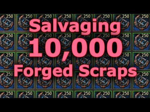 Salvaging 10,000 Salvageable Intact Forged Scraps  |  Guild Wars 2
