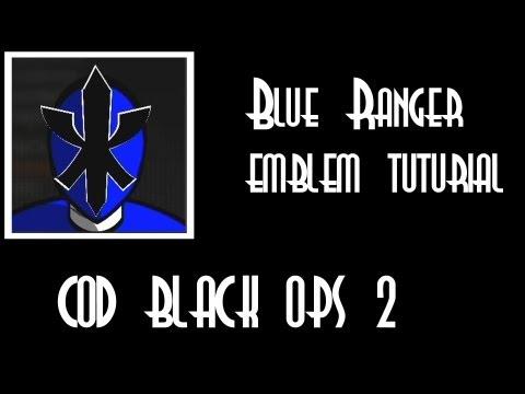 Black ops 2 Blue Ranger (Samurai Ranger) Emblem tutorial