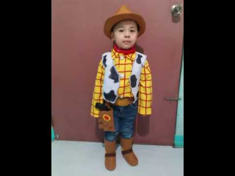 my son..:)with my DIY toy story costume! 😁