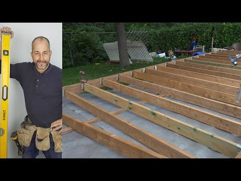 How To Build A Deck Part 3 Ground level Deck