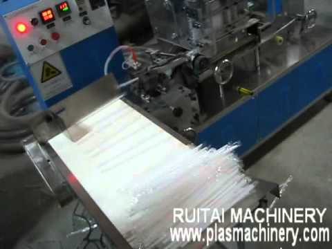 I Shape Straw Packing And Cold Cutting Machine