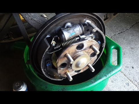 1994 Honda Accord Rear Drum Brake Shoe Replacement