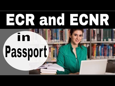 What is ECR AND ECNR - Apply for NON-ECR Passport |Difference between ECR and ECNR in Passport Hindi