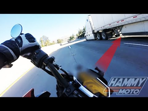 Rider crashes under Semi Truck.  The Hammy Moto interview