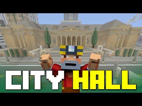 Minecraft Xbox One: Los Dangeles City Hall Tour!