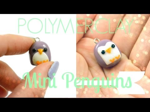POLYMERCLAY: Mini Penguin Charms