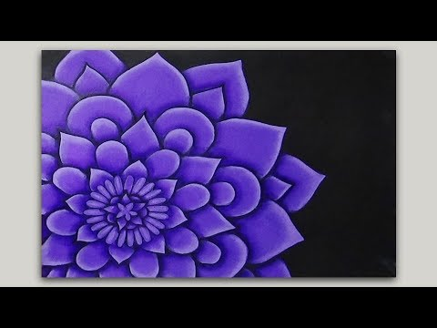 Flower Mandala Painting in Acrylics - Shading and Highlighting - part 1 of 2
