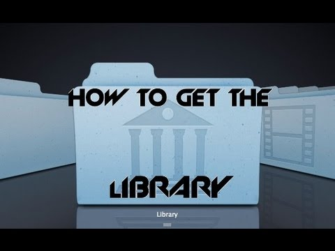 How to Get the Library on the Mac OS X Mountain Lion