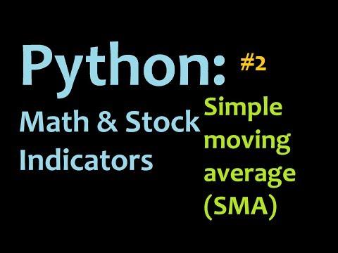 Python: Simple Moving Average (SMA) Mathematics and Stock Indicators