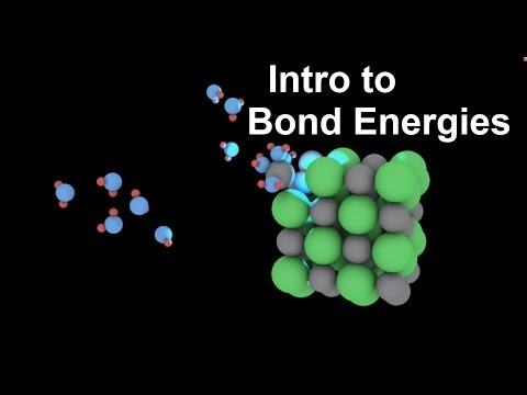 Introduction to Bond Energies (enthalpies)