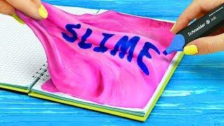 Download 10 DIY Squishy School Supplies vs Slime School Supplies Challenge Video