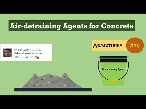 Air-detraining Agents for Concrete || Admixtures #10