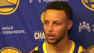 Steph Curry talks win over 76ers, says Celtics
