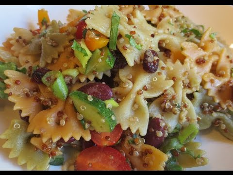 Low Fat Vegan No Oil Pasta Salad EASY & Delicious