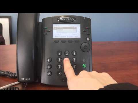 How To Change Voicemail Greetings - VVX300
