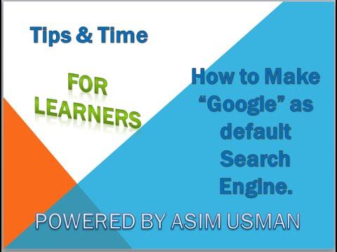 How to change internet explorer default search engine