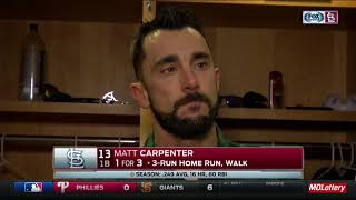 "Matt Carpenter: ""We feel as good as we"