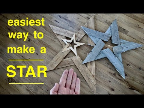 Simple Easy Way To  Make ● Pallet Wood Stars Using Jigsaw !