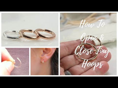 How to put in and take out tiny hoop earrings and nose rings