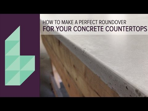 How To Make Concrete Countertops   Perfectly Rounded Edges with Easy Silicone Application