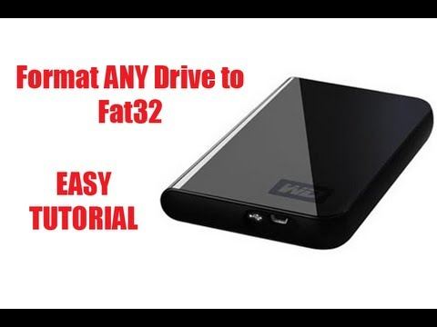 How to Format an External HDD to Fat32 (For Xbox 360 & PS3 Use)