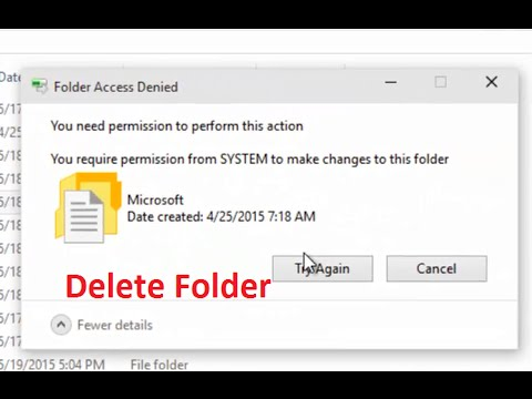 How to fix 'you require permission from SYSTEM to make changes to this folder' Windows 10