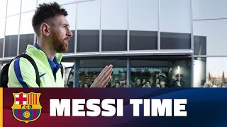 A day in the life of Messi