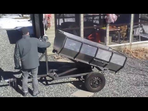 dump trailer with manual winch
