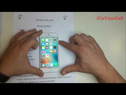 Checklist for buying used iphones and other phones