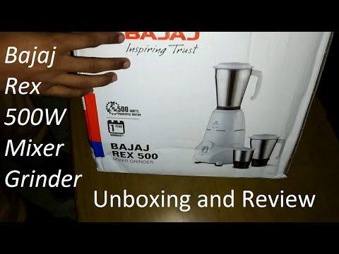 [Hindi-हिन्दी] Bajaj Rex 500W Mixer Grinder Unboxing and Review