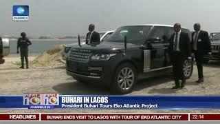 President Buhari In Lagos Tours Eko Atlantic Project