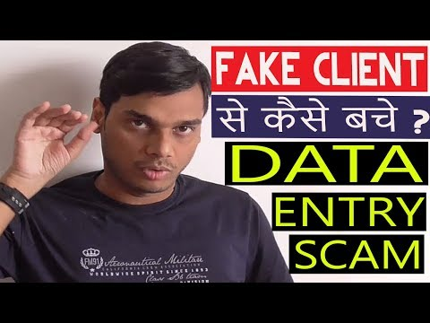 How to detect Fake Client on upwork, fiverr, pph Explained। Data entry scam    Hindi