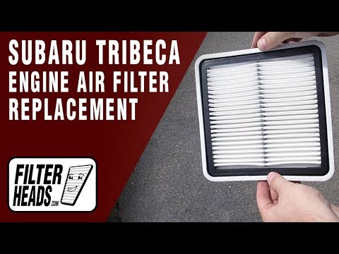 How to Replace Engine Air Filter 2010 Subaru Tribeca H6 3.6L