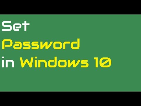 How to set password in Windows 10 [New]