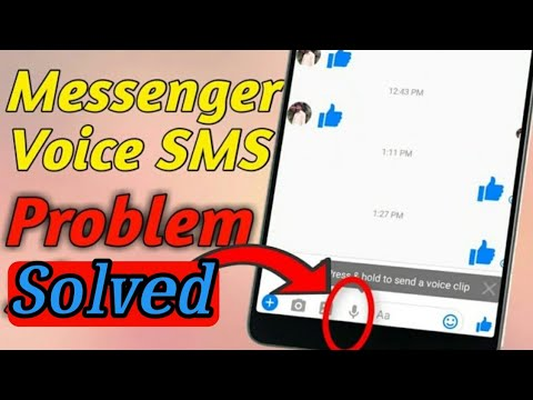 How To Fix Messenger Voice Message Problem Slove