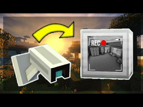 ✔MCPE -How To Make a Working Security Camera! | Command Block creation