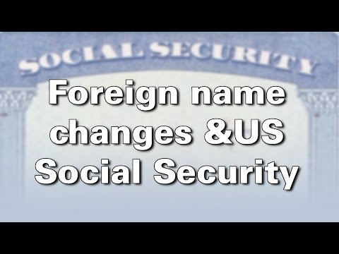 Foreign name change for US citizens born abroad.