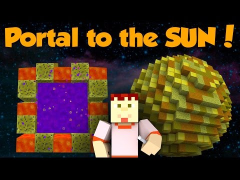 HOW TO MAKE A PORTAL TO THE SUN   Minecraft