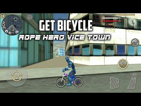 HOW  TO GET  BICYCLE IN ROPE HERO:VICE TOWN