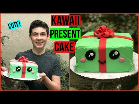 HOW TO MAKE A KAWAII PRESENT CAKE - BAKING WITH RYAN Episode 50