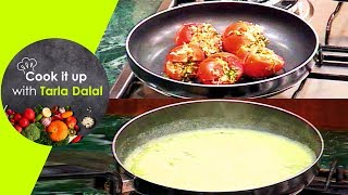 Cook It Up With Tarla Dalal - Ep 4 - Mushroom in white gravy, Stuffed Tomatoes and Brownies