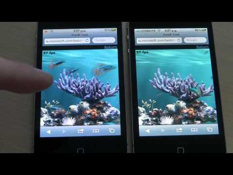 iPhone 4 vs iPhone 4S HTML5 Performance | pestaola.gr